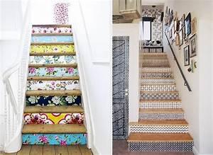 customiser ses meubles avec des chutes de papier peint With comment tapisser un meuble