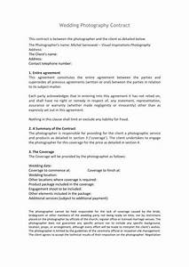 Free Printable Photography Contracts Free 11 Wedding Photography Contract Templates In Pdf