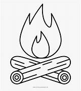 Campfire Coloring Fire Drawing Line Camp Clipart Clip Clipartkey Transparent sketch template