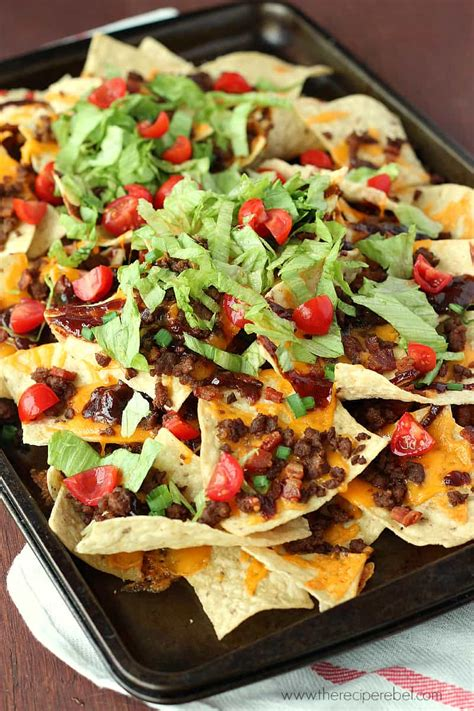 nacho recipe bbq bacon cheeseburger nachos the recipe rebel