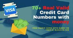 Search for what you need. Credit card numbers that work in 2020   Free visa card, Credit card info, Visa card numbers