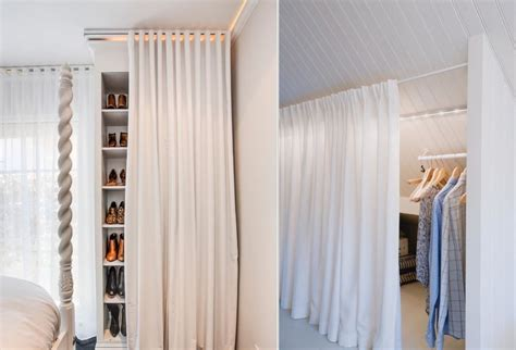 Walk In Closet Curtain by How To Reinvent Your Storage Areas With Closet Curtains