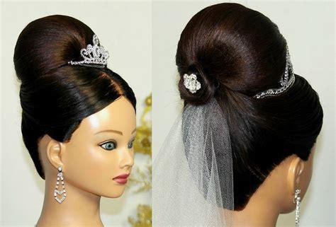 Bridal Updo. Hairstyles For Medium Long Hair. Свадебная