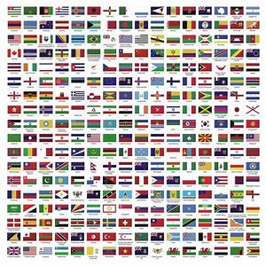 Aufkleber Land ~ ~ Länder Welt ~ Welt ~ ~ Fahnen Flaggen Megaset • Pixers® Wir leben, um zu