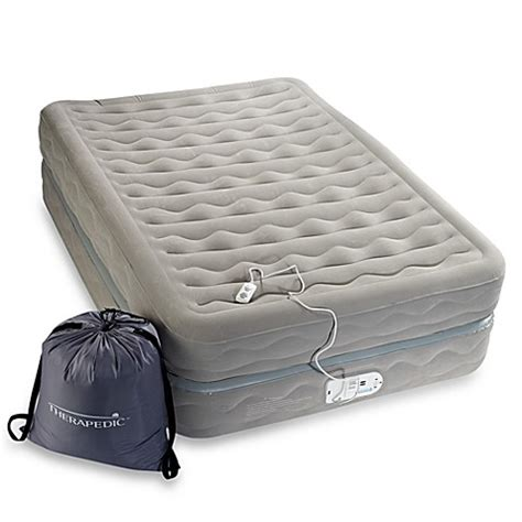 bed bath and beyond air mattress therapedic 20 quot high platinum series air mattress bed