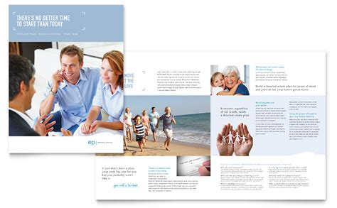 estate planning brochure template word publisher
