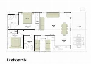 Three Bedroomed Villas Plans Joy Studio Design Gallery
