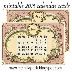 Mini Kalender 2015 : free printable 2015 calendar cards part 1 ausdruckbarer kalender 2015 freebie meinlilapark ~ Watch28wear.com Haus und Dekorationen