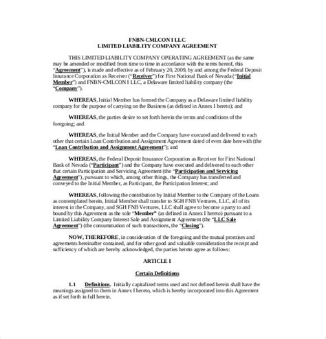 operating agreement templates word apple pages