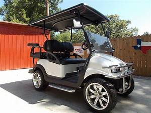 Pearl White Phantom Performance Series Golf Cart