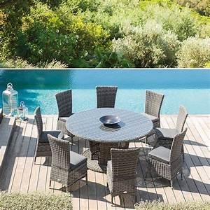 Table De Jardin 8 Places : table de jardin ronde moor a terre d 39 ombre hesp ride 8 places ~ Teatrodelosmanantiales.com Idées de Décoration
