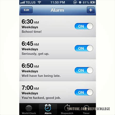 how to text on iphone morning alarm 2551