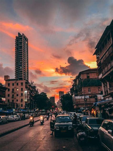 witnessed  beautiful sunset  mumbai india