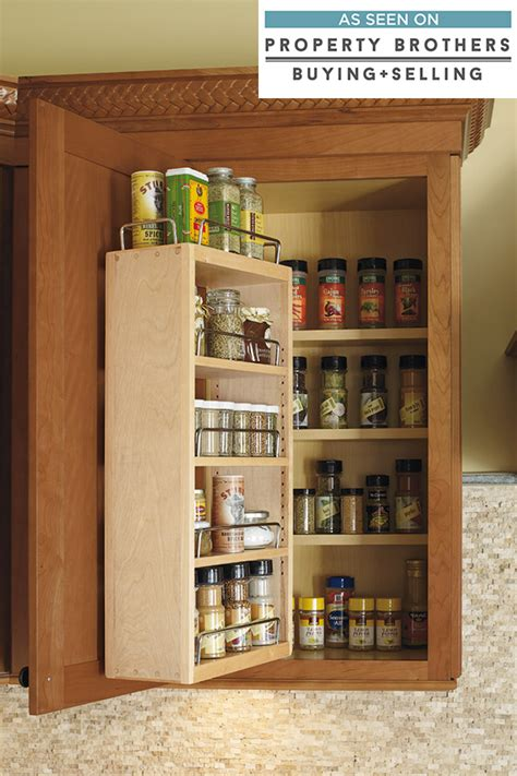 kitchen cabinet spice organizer wall spice rack cabinet cabinetry 5790