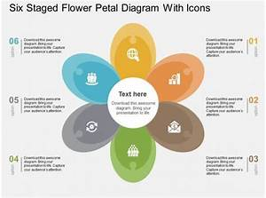 Six Staged Flower Petal Diagram With Icons Flat Powerpoint