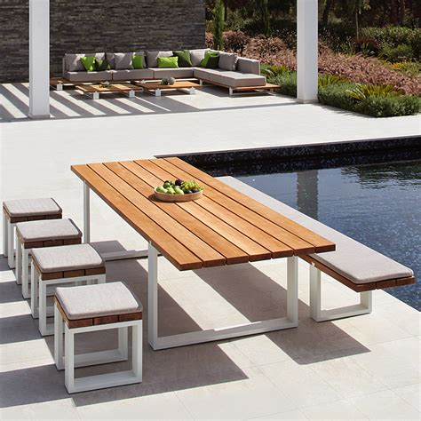 table et chaise exterieur modern garden table and bench royal botania vigor furniture