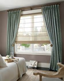 Roman Shades with Curtains