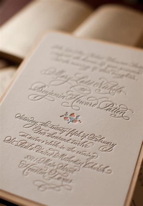 Mary + Ben's Elegant and Rustic Letterpress Wedding