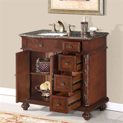 Bathroom Vanity With Center Sink by 36 Inch Granite Top Center Sink Bathroom Single