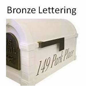 gaines mailboxes bronze vinyl lettering for mailbox With mailbox vinyl lettering