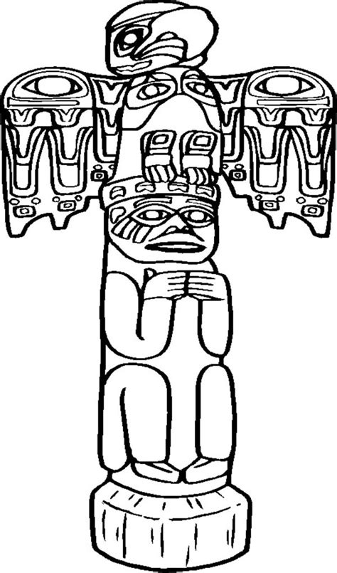 totem pole coloring pages    print