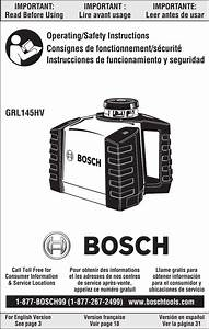 Robert Bosch Tool Grl145hv Receiver User Manual Rt 5250
