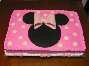 pink Minnie Mouse sheet cake | cakes minnie/mickey ...