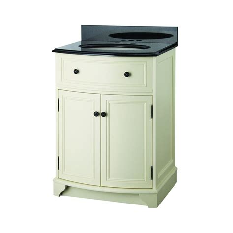 foremost bathroom vanity with top foremost arcadia 25 1 8 in vanity in vanilla with