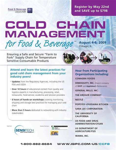 id s am agement cuisine cold chain management for food beverage