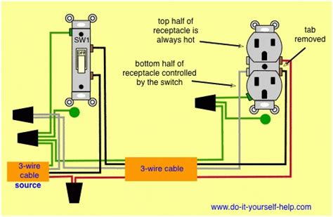 how to wire a switched outlet diagram wiring diagram and