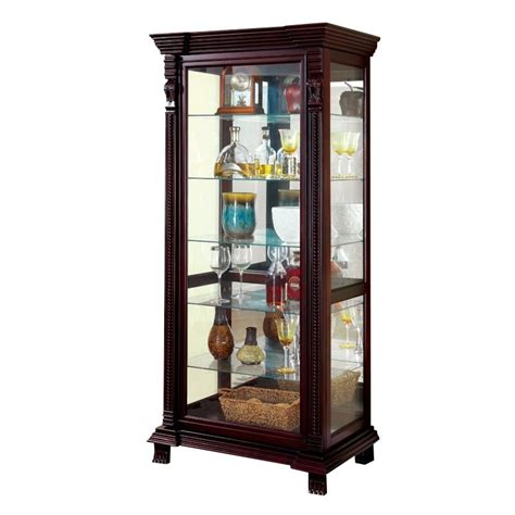 espresso curio cabinet furniture of america lisandro traditional curio cabinet in