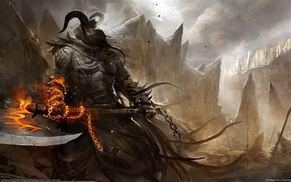 Wallpapers Medieval Fantasy Desktop Demon Unique Dark