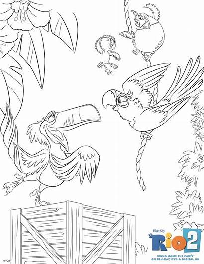 Rio Coloring Sheets Pages Colouring Blu Printable