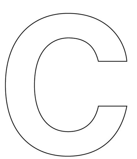 Large Letter C Template by Preschool Pioneer Uen