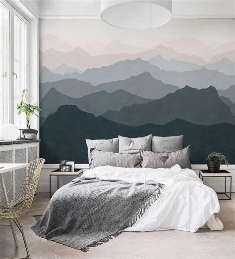 large size of home decor bedroom modern plywood white bedside table single mountain mural wall wallpaper peel and stick