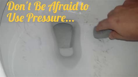 toilet bowl ring pumice stone cleaning trick test