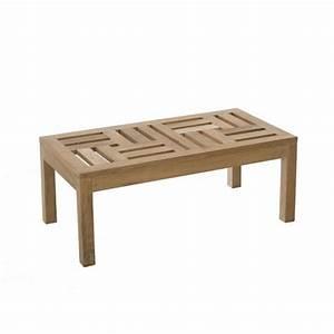 Table En Teck Massif : table basse de jardin en teck brut massif 100cm summer pier import ~ Teatrodelosmanantiales.com Idées de Décoration