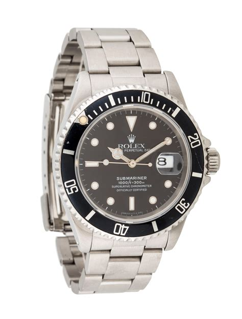 Rolex Oyster Perpetual Date Submariner Watch - Bracelet ...