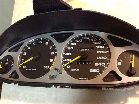 find mugen dc cluster speedometer acura integra type  gsr itr  ek ef bc ba motorcycle