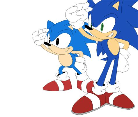 sonic generations classic and modern sonic by