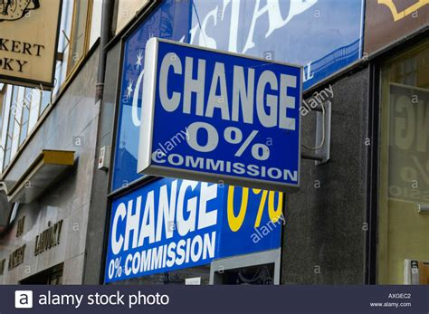 prague exchange office change 0 commission stock photo royalty free image 3116737 alamy