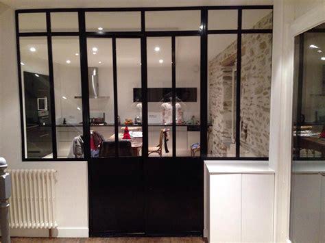 cuisine style atelier artiste porte vitrée acier mb creation