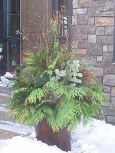 Outdoor Christmas & Winter Decorating with Evergreens on