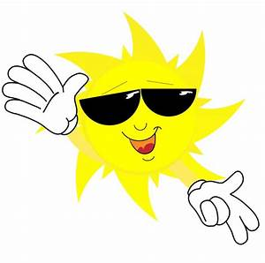 Happy sun face in sunglasses   Clipart Panda - Free ...