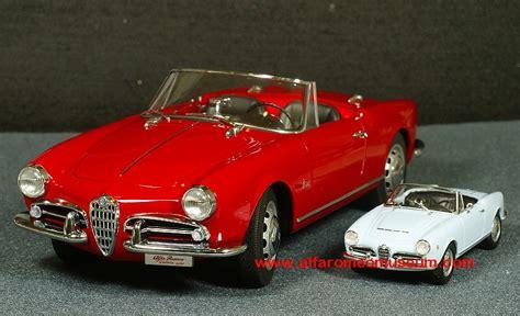 giulietta spider  alfa romeo model car museum