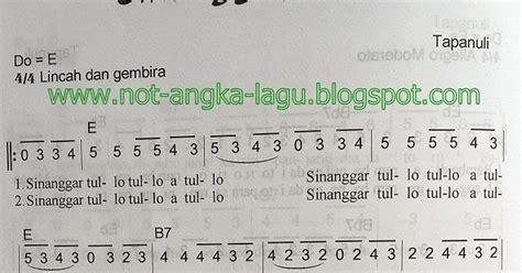 not angka lagu indonesia tanah air beta not angka lagu sinanggar tulo kumpulan not angka lagu