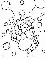 Popcorn Coloring Printable Preschool Letter Candy Letters Cotton Kindergarten Crafts Template Theme Worksheets Kernel Sheet Dittos Printables Steam Train Week sketch template