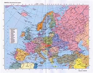 Large detailed political map of Europe with roads and ...