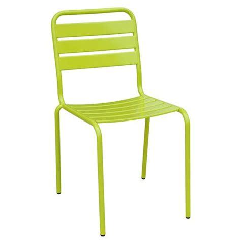 chaise de jardin metal chaise de jardin empilable evora metal vert achat