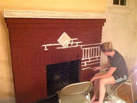 sponge painting brick fireplace home in the district modernizing a brick fireplace